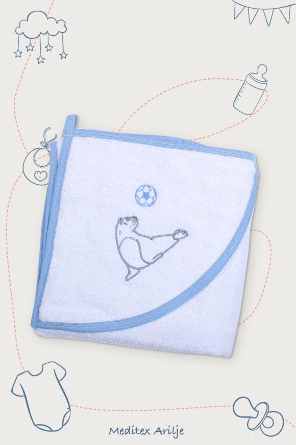 peskir za bebe plava foka